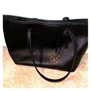 black leather new york and company purse
